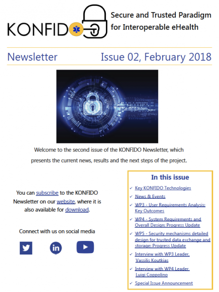 2nd KONFIDO Newsletter February 2018