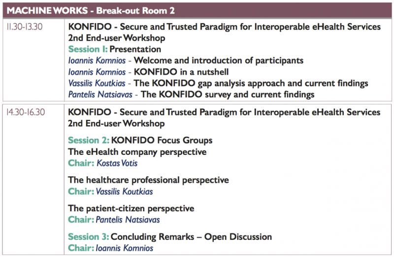 konfido 2nd workshop program