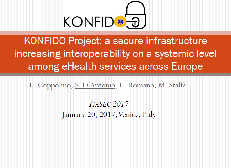 konfido at ITASEC 2017