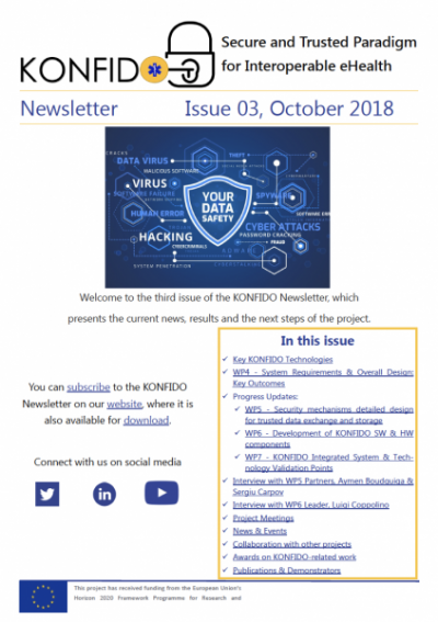 3rd KONFIDO Newsletter Screenshot