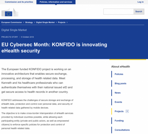 KONFIDO at EU DSM Cybersecurity month story