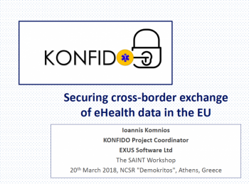 KONFIDO presentation at Saint Workshop